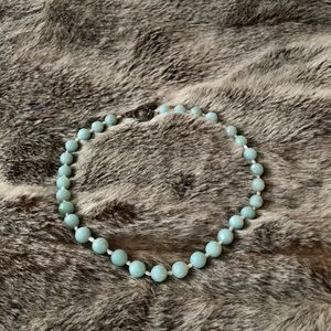 Mint colored necklace, bought in Soho boutique